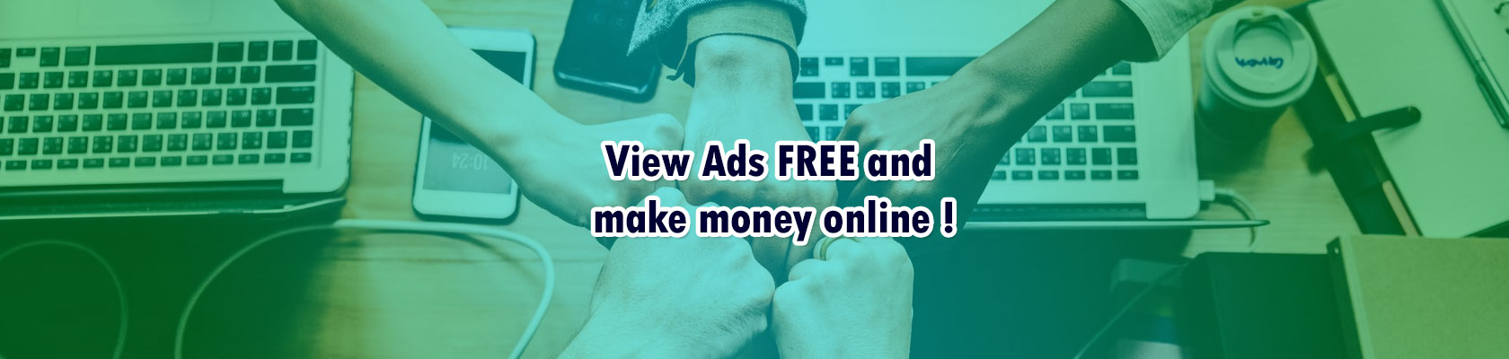 How to earn online free by clicking ptc ads ? Free Earn Money Online